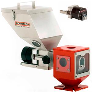 Spansluiting kleurdosering machine